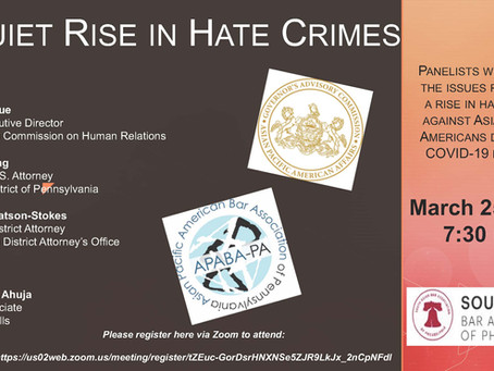 The Recap:  3/25/2021 Hate Crimes Panel