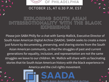 10/15/2020:  SABA & SAADA Event