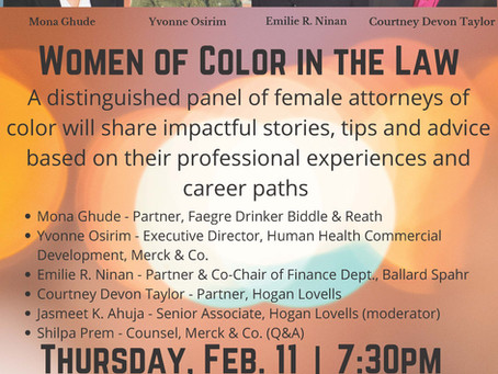 2/11/2020:  Women of Color in the Law