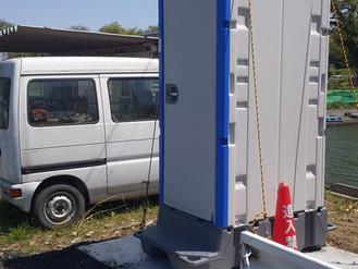 小屋の横に「Newトイレ」設置しました!