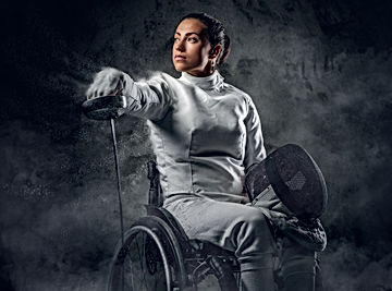 Female Paralympian Fencer