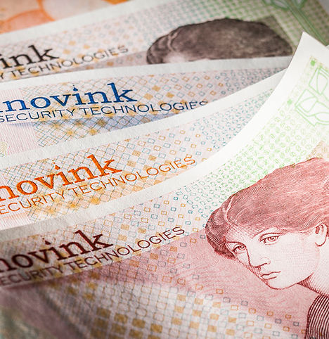 Inovink: machine-readable security for banknotes