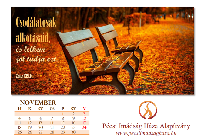 asztali naptár belső lap