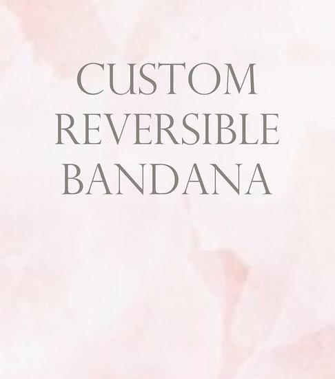 Custom Reversible Bandana