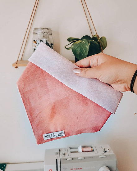 """Peachy Pink"" bandana"