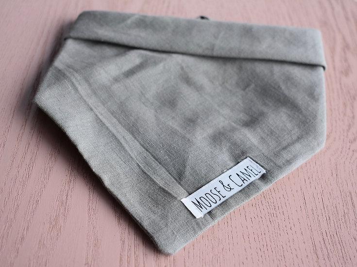 'Charcole' Linen Bandana