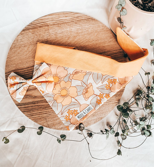 '70s floral' bandana