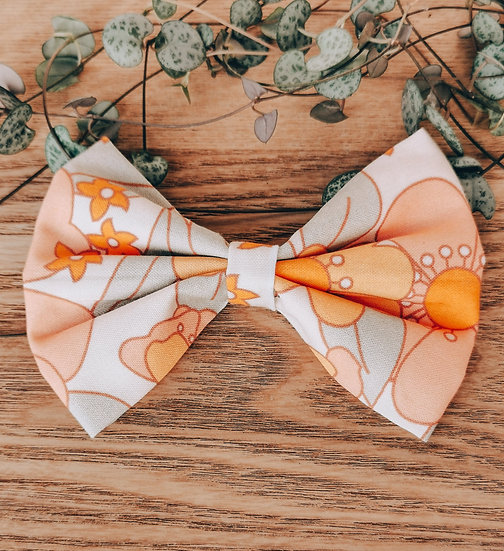 70's Floral Bow Tie