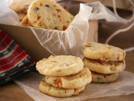 Apricot & Coconut Icebox Cookies
