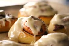 Cinnamon Rolls w/ Maple Cream Cheese Icing