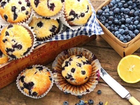 Northern Ontario Blueberry Buttermilk Muffins