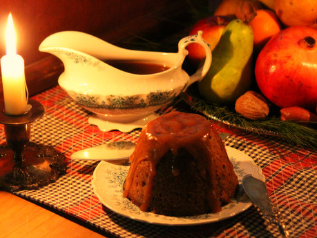 Christmas Pudding w/ Butter Rum Sauce