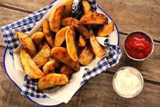 Seasoned Oven Roasted Potato Wedges