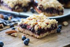 Blueberry & Almond Crunch Streusel Bars
