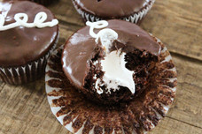 Old School Cream Filled Chocolate Cupcakes