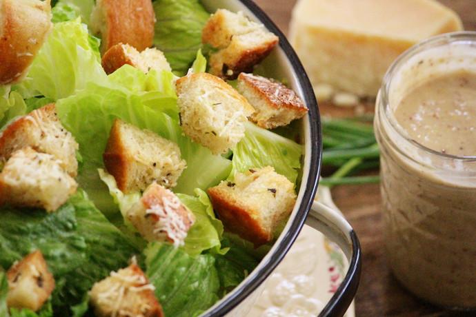 Parmesan, Garlic & Chive Croutons