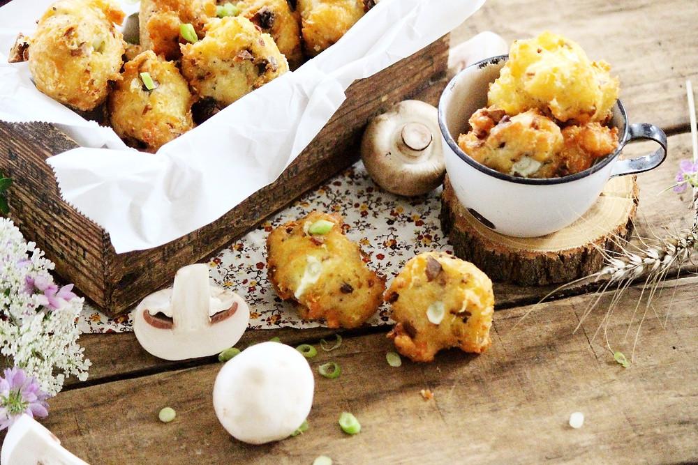 Mushroom and Oka Cheese Puffs