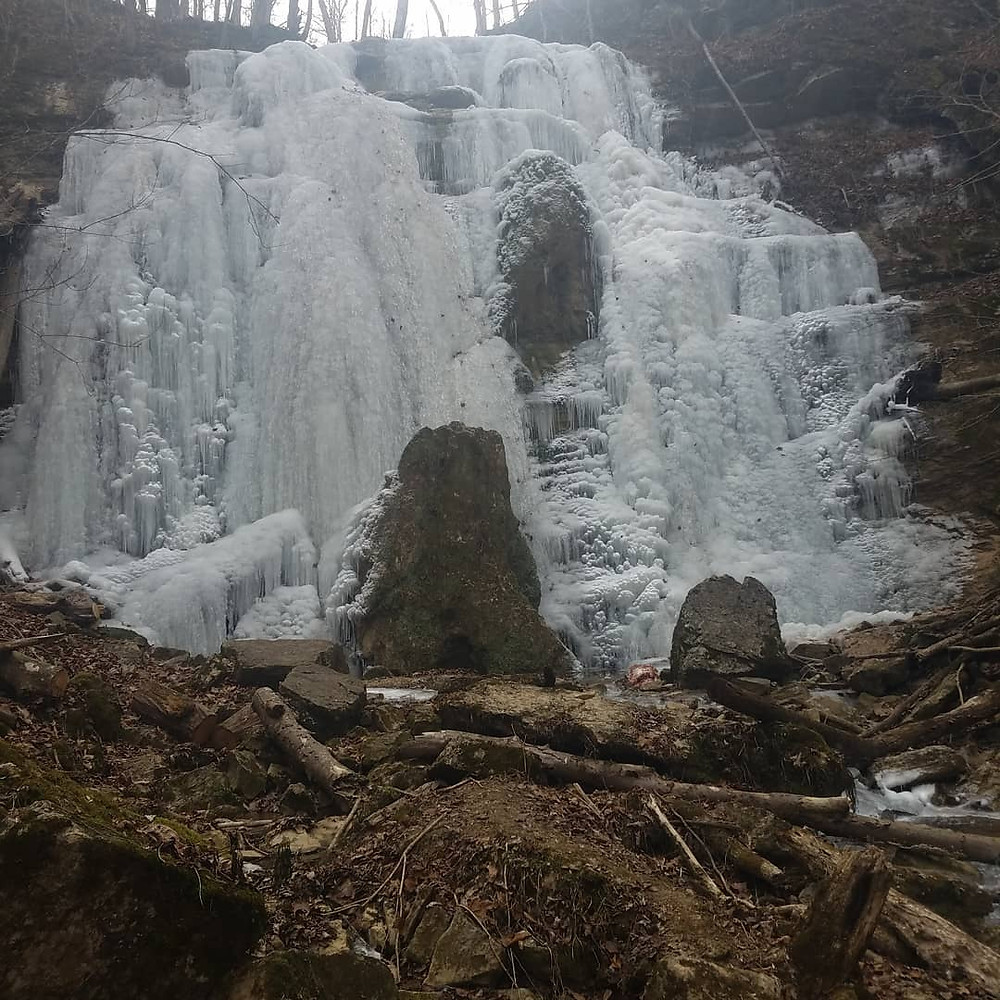 Frozen Tank Hollow Falls