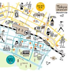 ◯『Tokyoエキマチ』vol.33  巻頭特集イラストマップ フリーマガジン+WEB  JR東日本
