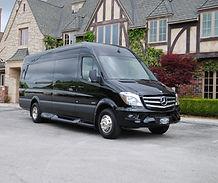 Classy Mercedes Sprinter Van for airport service
