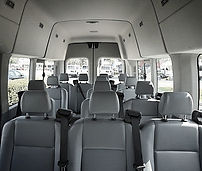 Interior of Sprinter Shuttle Van