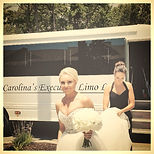 Charleston Wedding Transportation - Bride Exiting Limo Coach