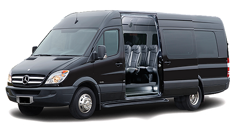 Mercedes Sprinter shuttle service in Charleston