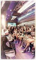 Charleston Bachelorette Ladies in Limo Bus