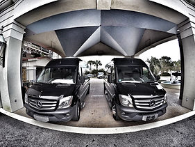 Dual Sprinter shuttle vans servicing Charleston