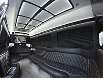 Interior of Carolina's Executive Limo Line Sprinter Limo