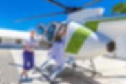 Wedding helicopter getaway in Charleston
