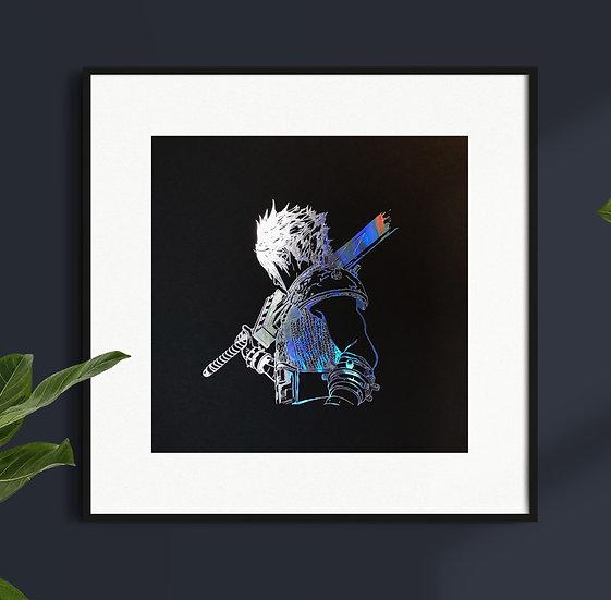 Affiche Final Fantasy Cloud Strife Holographique