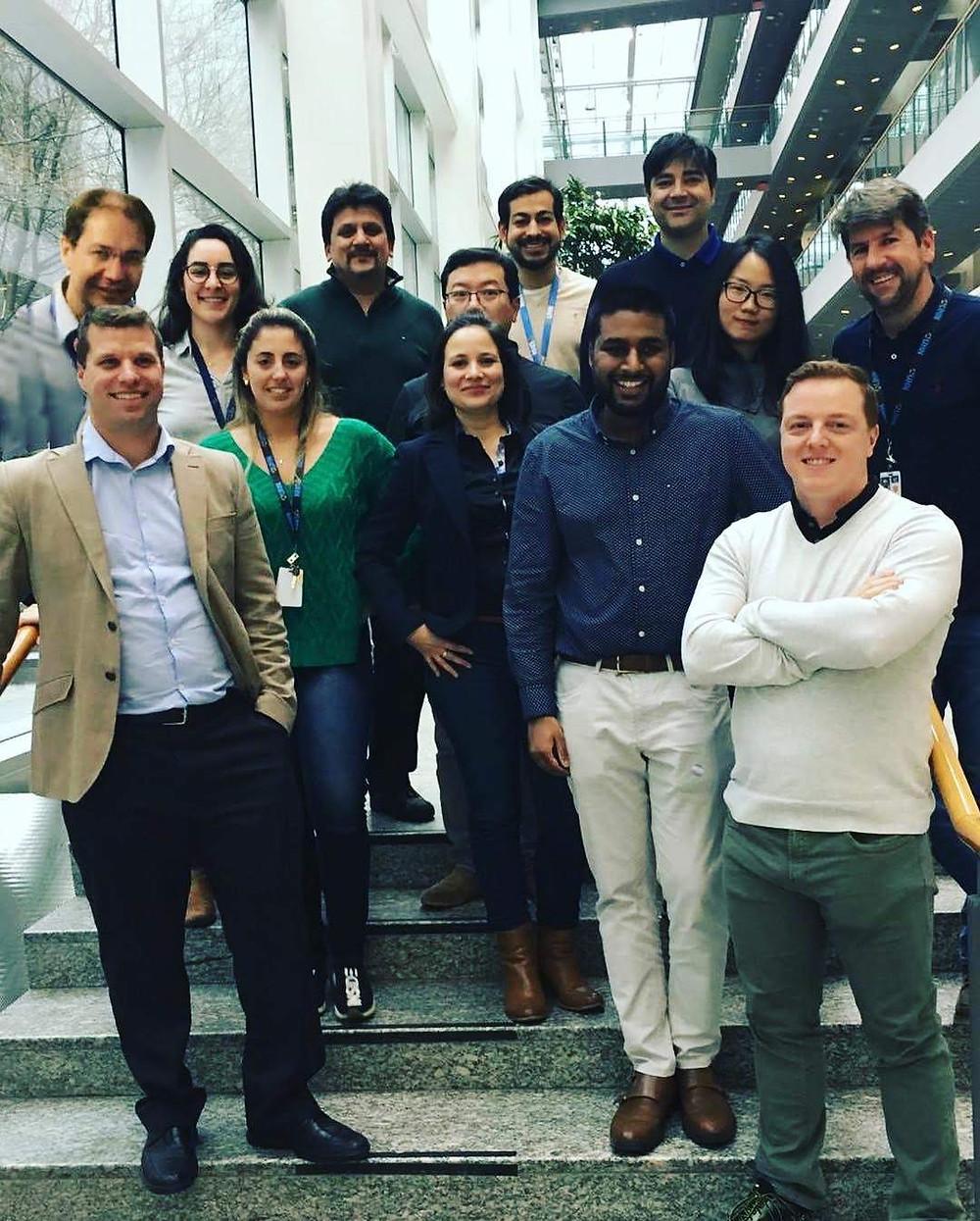 Equipe do laboratório de pesquisa que fiz parte aqui em Toronto!