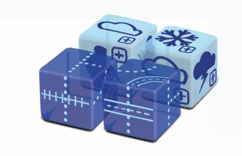 PREORDER - Railroad Ink Challenge Dice Expansion Sky Pack