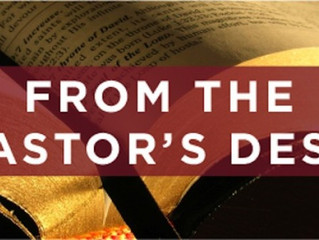 From the Pastor's Desk: A Look at 2018