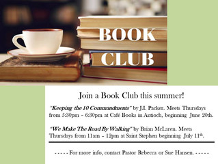 Summer Book Clubs