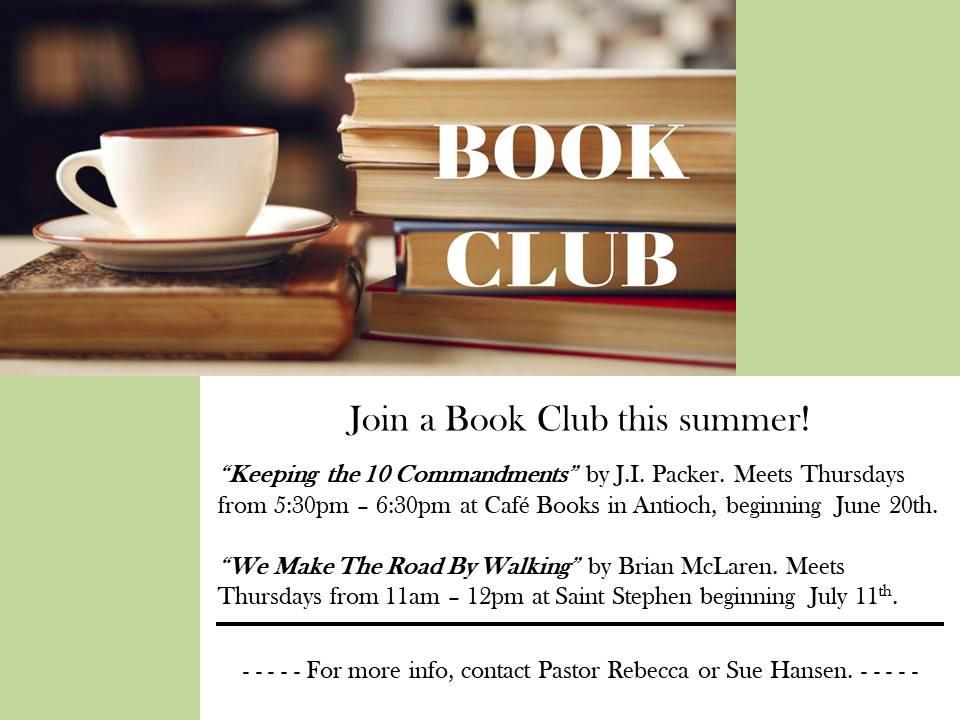 Summer Book Clubs