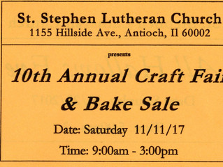 10th Annual Church Craft Fair & Bake Sale