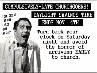 Remember To Set Your Clocks Back An Hour!