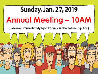 2019 Annual Congregational Meeting