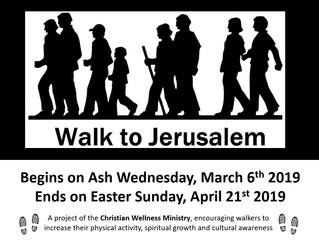 Walking to Jerusalem 2019