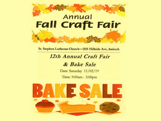 Fall Craft Fair & Bake Sale