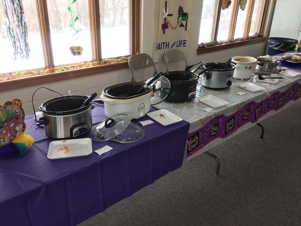 Six entries in the chili contest.
