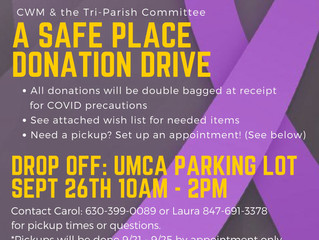 "Household Goods Donation Drive for ""A Safe Place"" on Saturday Sept 26th"