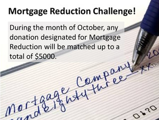 Mortgage Reduction Challenge for October
