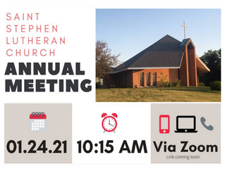2021 Annual Congregational Meeting - Sunday Jan 24th