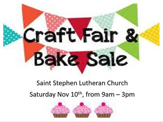 2018 Craft Fair & Bake Sale
