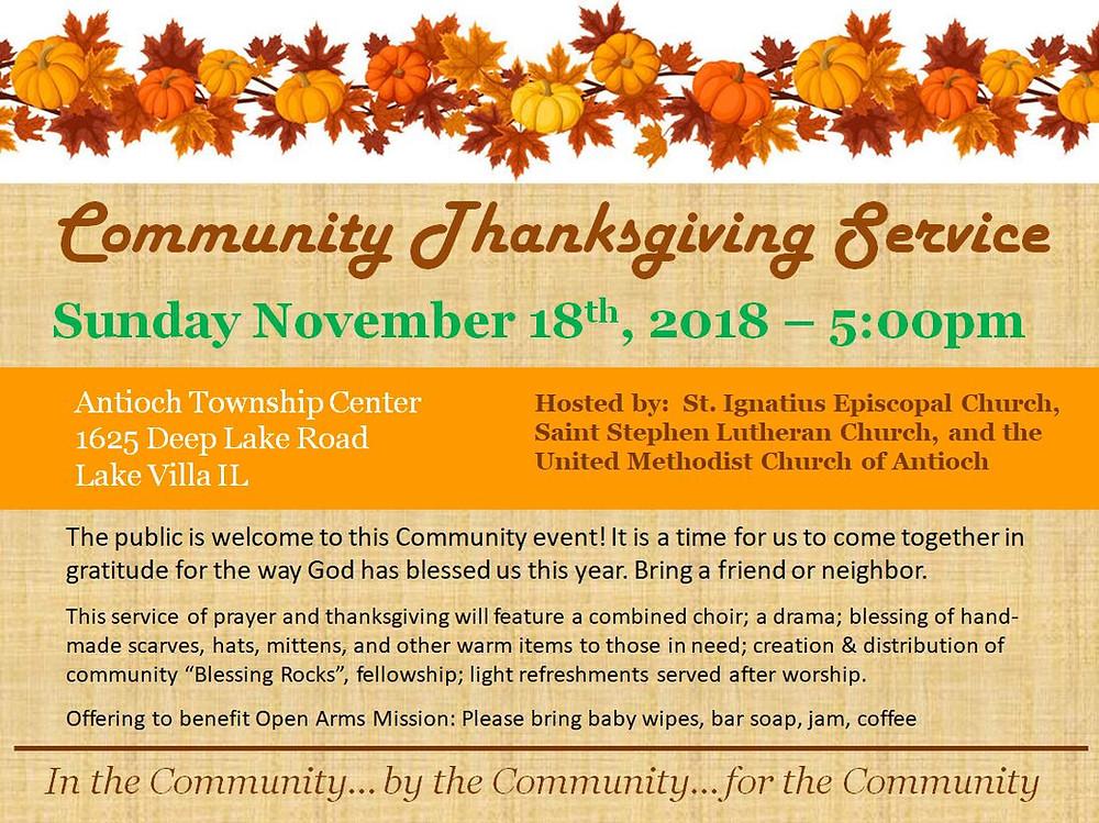 Community Thanksgiving Service Flyer