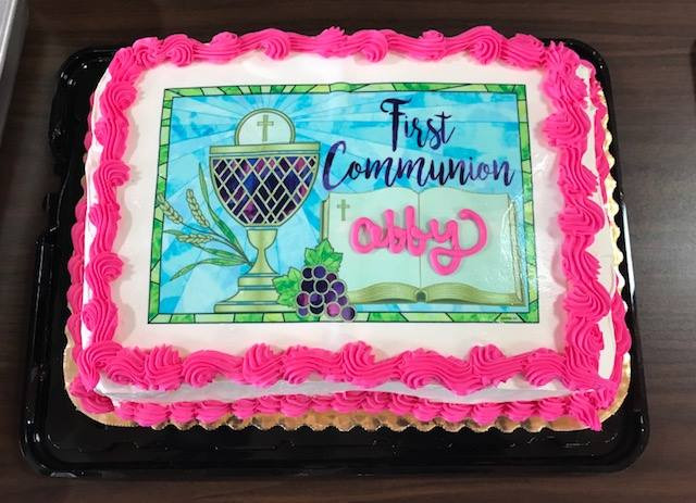 """First Communion"" Cake for Abby"