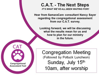 Congregation Meeting July 15th!